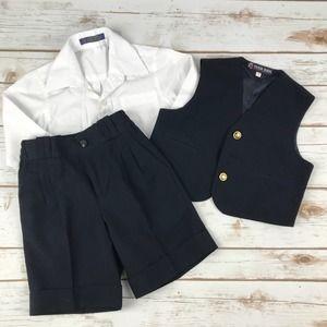Boys Two Piece Suit & Shirt 2T